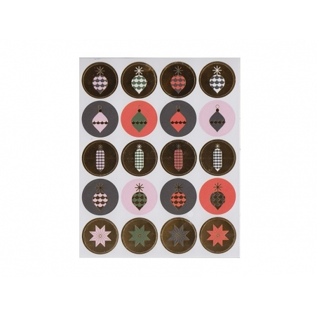 Set of stickers - Christmas decorations