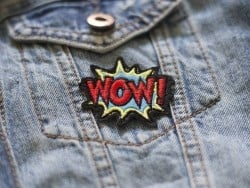Iron-on patch - Wow