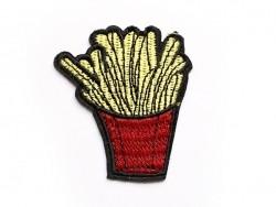 Ecusson thermocollant barquette de frites  - 1