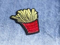 Ecusson thermocollant barquette de frites