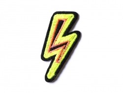 Iron-on patch - neon-coloured flash
