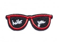 Ecusson thermocollant lunettes hello you