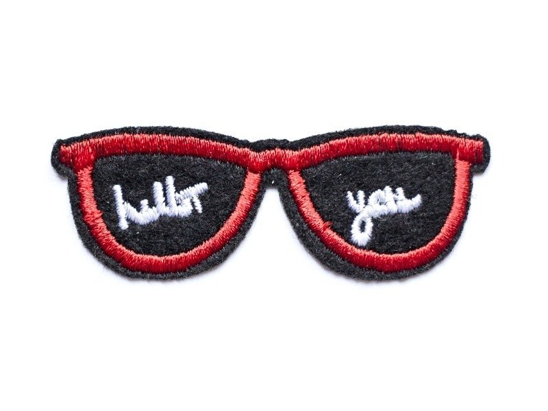 Sunglasses / Hello you iron-on patch