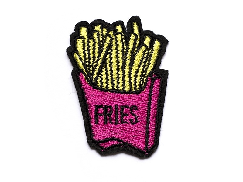 """Ecusson thermocollant frites """"fries""""  - 1"""