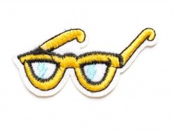 Iron-on patch - glasses