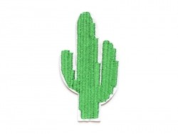 Iron-on patch - embroidered cactus