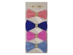 Gift decorations - pastel-coloured crepe bows