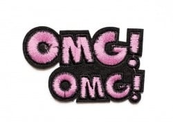 Iron-on patch - Omg Omg / Oh my God