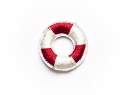Iron-on patch - small lifebuoy / swim ring