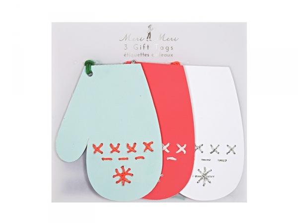 Etiquettes cadeaux - moufles Meri Meri - 1
