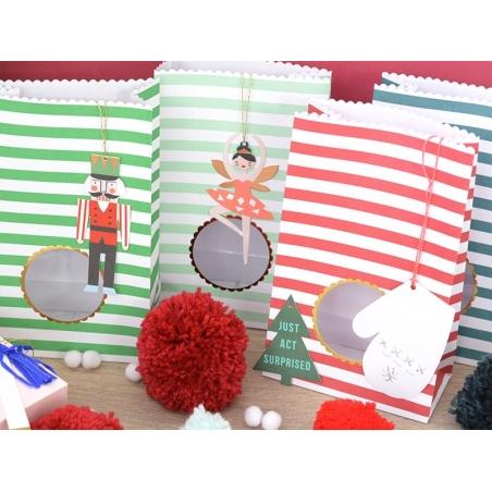 Etiquettes cadeaux - moufles Meri Meri - 2