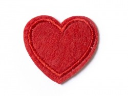 Ecusson thermocollant petit coeur rouge
