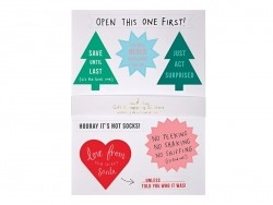 Stickers with messages for gifts