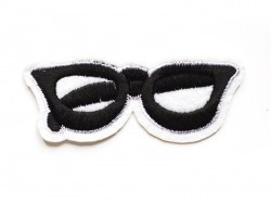 Iron-on patch - fashionable glasses