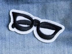 Ecusson thermocollant lunettes tendances