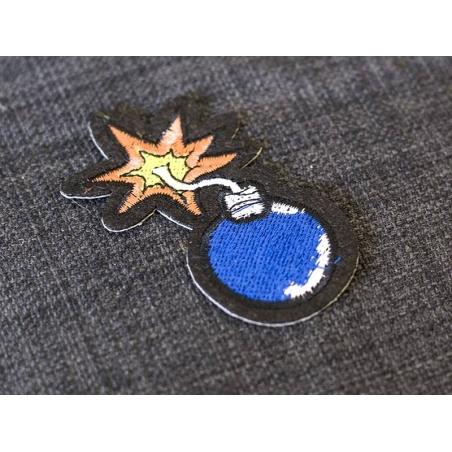 Iron-on patch - lit bomb