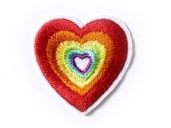 Ecusson thermocollant coeur hippie