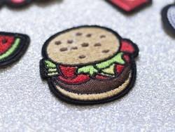 Ecusson thermocollant burger