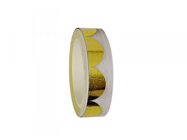 Acheter Ruban adhésif à festons dorés - 5,50€ en ligne sur La Petite Epicerie - Loisirs créatifs