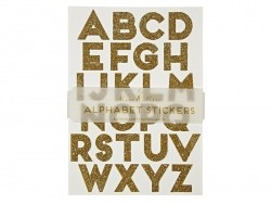 Letter stickers - gold-coloured glitter