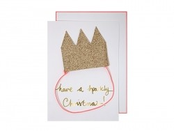 Card with a glitter crown