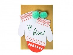 "Mittens card - ""Hi Five"""