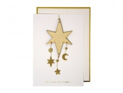 Wooden Christmas decoration card
