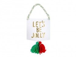 """Banner card - """"Let's be jolly"""""""