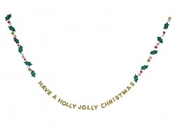 "Carte guirlande ""Holly Jolly"""