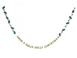 "Karte mit Girlande - ""Holly Jolly"""