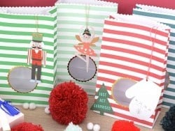 8 sachets cadeaux rayés