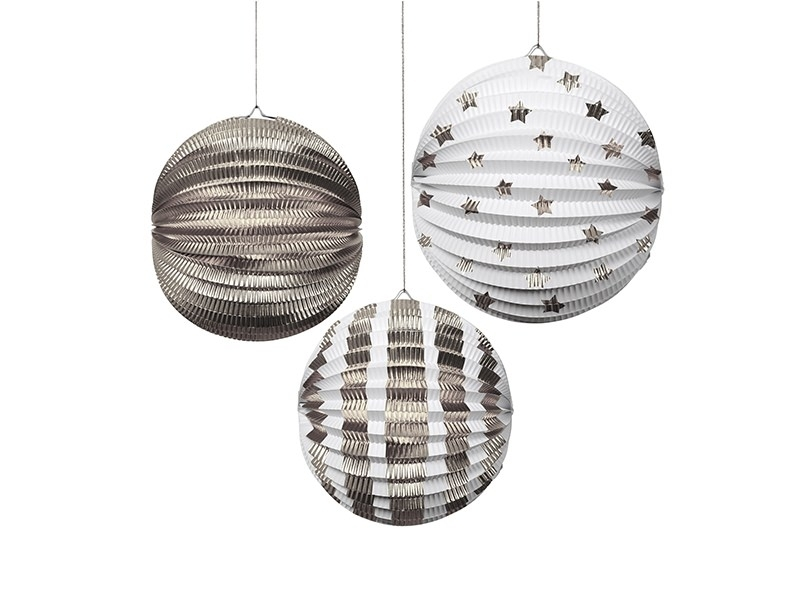 3 boules en papier - argenté Meri Meri - 1