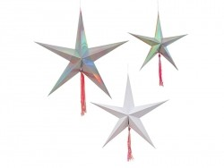 3 étoiles filantes à suspendre Meri Meri - 1
