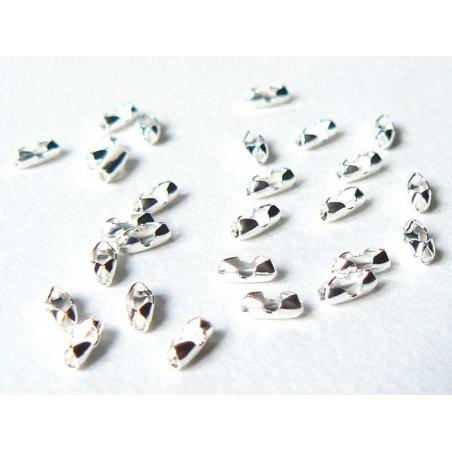 Acheter 10 fermoirs pour chaine bille 1,5mm - couleur argent clair - Taille S - 1,59€ en ligne sur La Petite Epicerie - Lois...