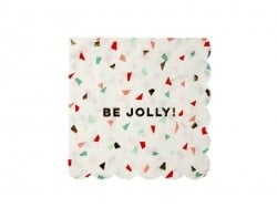 "Small confetti napkins - ""Be jolly"""