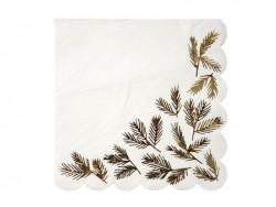 Grandes serviettes - branches dorées