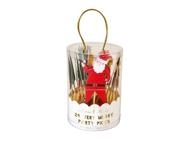 Set de 24 piques décoratifs - Noël Meri Meri - 1