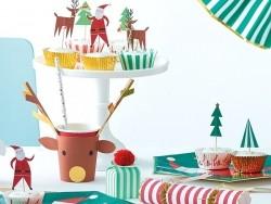 24-teiliges Set mit dekorativen Toppern - Weihnachten