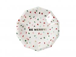 """Kleine Teller mit Konfettimotiv - """"Be merry"""""""