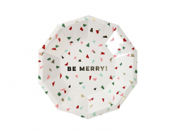 "Small confetti plates - ""Be merry"""