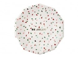 "Grandes assiettes confetti ""Be jolly"""
