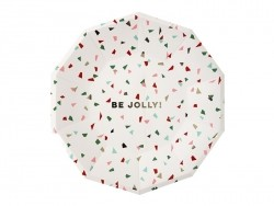 "Große Teller mit Konfettimotiv - ""Be jolly"""