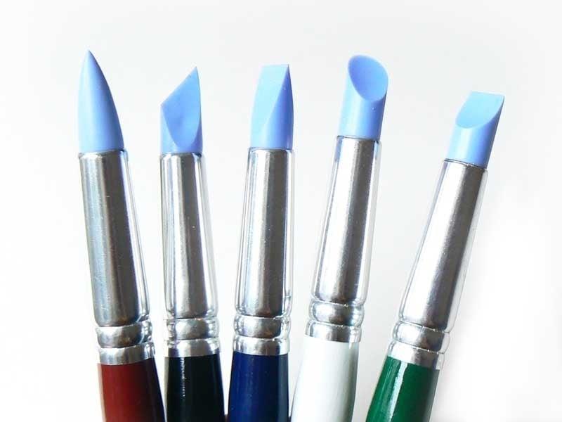 Acheter Lot de 5 pinceaux en silicone - Petit format - 12,90€ en ligne sur La Petite Epicerie - 100% Loisirs créatifs