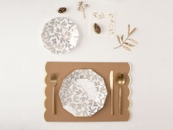 Large plates - gold-coloured branches
