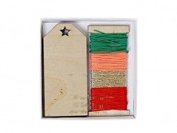 12 étiquettes cadeaux en bois Meri Meri - 1
