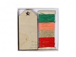 12 Geschenkanhänger aus Holz