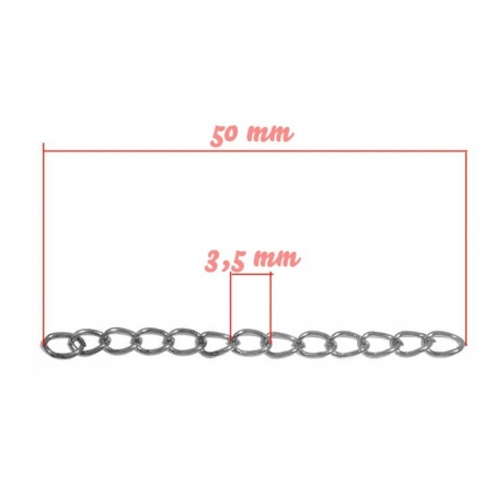 20 extension chains - dark silver-coloured