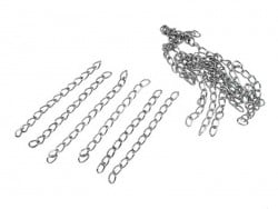 20 chaînes d'extension - couleur argent foncé  - 3