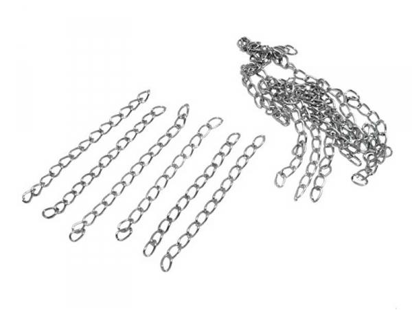 Acheter 20 chaînes d'extension - couleur argent foncé - 2,09€ en ligne sur La Petite Epicerie - Loisirs créatifs