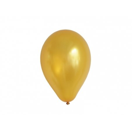 10 balloons in metallic colours